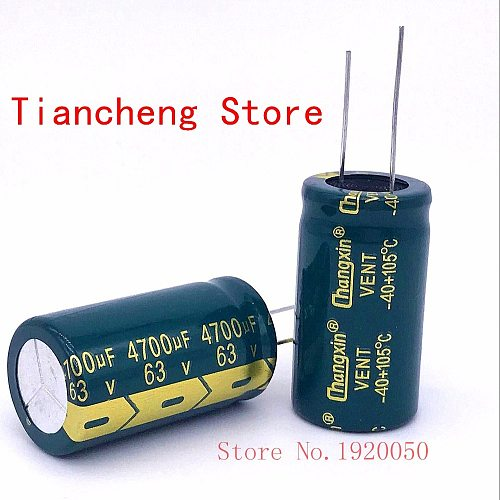 63V4700UF high-frequency low-resistance green gold long-life lead pin electrolytic capacitor 4700UF 63V 22X40