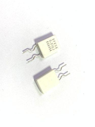 5Pcs/Lot/ KOA BPR58 5W 0.01r 10mr R01 5% direct plug oxygen free copper lead non inductive ceramic cement resistor