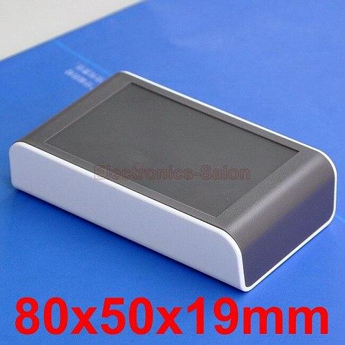 Desktop Instrumentation Project Enclosure Box Case, White-Brown, 80x50x19mm.