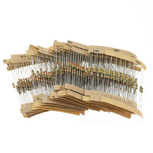 560pcs 56 Values 1/4W 5% Carbon Film Resistor Assorted Kit Set 1 ohm ~ 10M ohm Electronic lovers Resistor