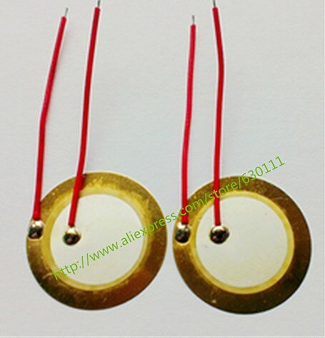 50PCS/LOT , 35mm Piezo Ceramic Element with cable length free shipping