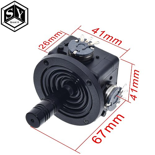 JH-D202X-R2/R4 5K Electric Joystick Potentiometer 2-axis 2D Monitor Keyboard Ball Joyrode Controller For Photographic film Tool