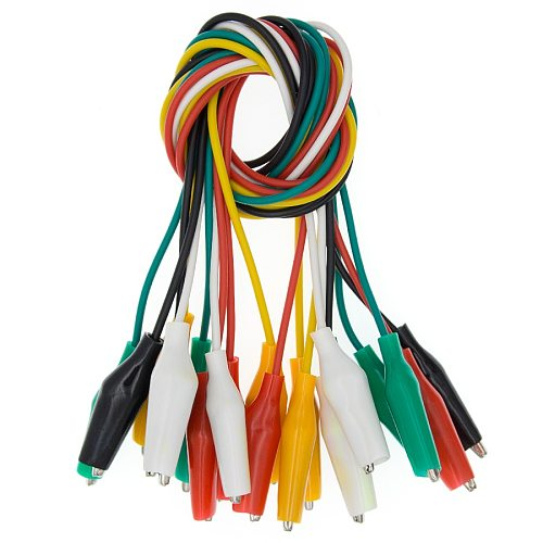 1set 10pcs Alligator Clips Electrical DIY Test Leads Alligator Double-ended Crocodile Clips Roach Clip Test Jumper Wire