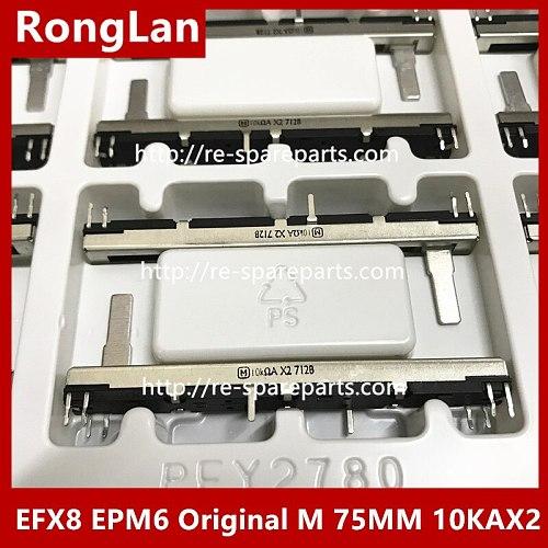 EFX8 EPM6 Original M 75MM 7.5CM Majestic Soundcraft mixer fader potentiometer 10KA 10KAX2 double Handle length 15MM-10pcs/lot