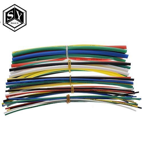 GREAT IT   Electric Unit 70pcs Flame Retardant Durable 7 Color Assorted Colors Ratio 2:1 Polyolefin Heat Shrink Tubing Tube Kits