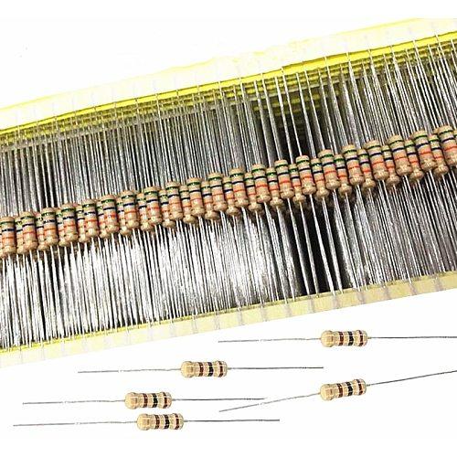 100pcs 1/2w 0.5W 5% Carbon Film Resistor 1R~1M 2.2R 10R 22R 47R 51R 100R 150R 470R 1K 4.7K 10K 47K 1 2.2 10 22 47 51 100 150