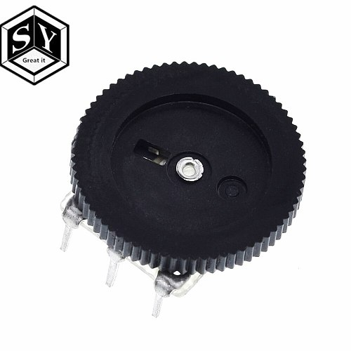 10PCS Great IT B103 16x2mm 10K Ohm Double Dial Taper Volume Wheel Duplex Potentiometer Z07 Drop ship