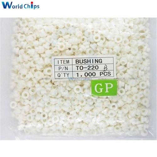 100PCS Insulating Tablets Insulation Bushing Transistor Pads Circle TO-220