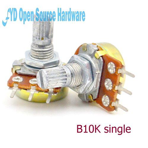 10pcs  B10K L: 15MM WH148 single joint amplifier potentiometer