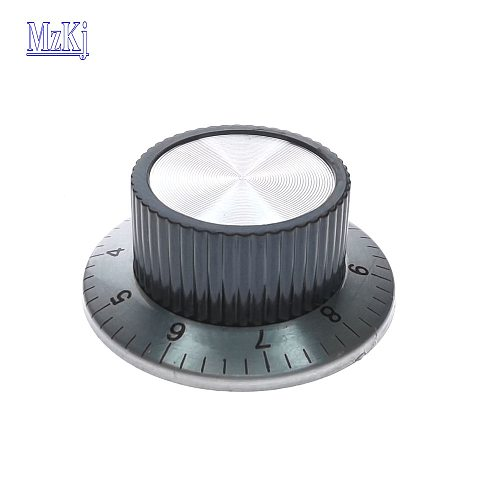 3PCS Hot Potentiometer Band Switch Knob Cap With Scale Number C3 Locking Screw Size 36X24MM Inner hole 6MM