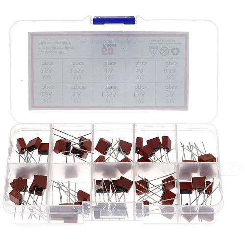 50Pcs/Box 10Kinds x 5pcs Square Fuse Plastic 392 Electrical Assorted Fuse Mix Set 0.5A 1A 1.25A 1.6A 2A 2.5A 3.15A 4A 5A 6.3A