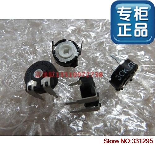 10PCS Origional Product Potentiometer Switch PT10-30K Horizontal Hexagonal Hole Adjustable Resistance Diameter 10mm