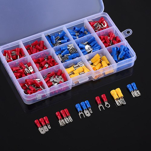 280PCS Assorted Crimp Spade Terminal Insulated Electrical Wire Cable Connector Kit Set Male Female
