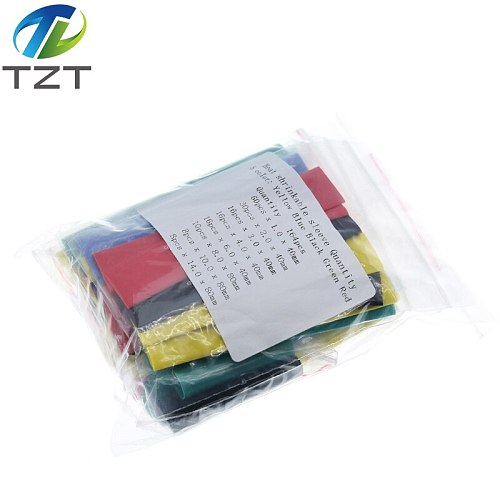 164pcs Set Polyolefin Shrinking Assorted Heat Shrink Tube Wire Cable Insulated Sleeving Tubing Wire Cable 8 Sizes 2:1 s