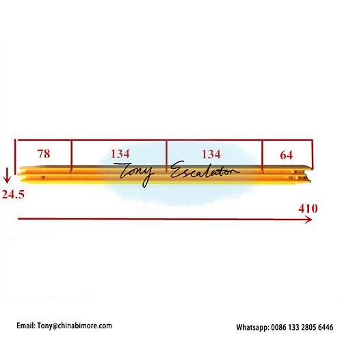 Escalator Yellow Plastic Demarcation XAA455M1 L410mm W24.5mm Right