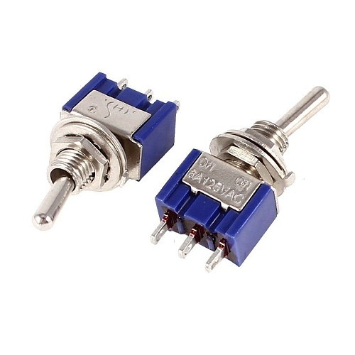 50pcs MTS-102 3Pin 2 files SPDT ON-ON Mini Toggle Switch 6A 125VAC Mini Switches