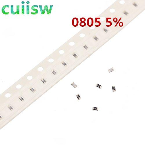 100pcs 0805 5% 1/8W SMD chip resistor 0R ~ 10M 0 1R 10R 100R 220R 330R 470R 1K 4.7K 10K 47K 100K 1M 10M 0 1 10 100 330 470 ohm