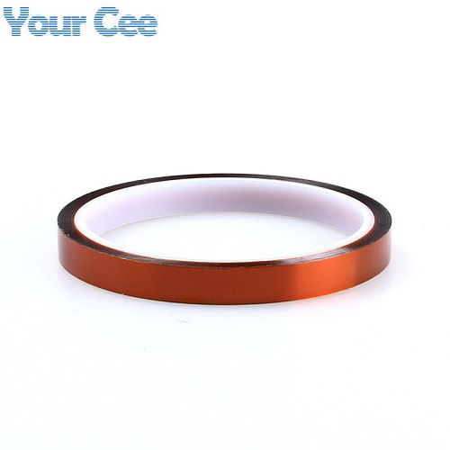 2 pcs 10mm x 33m High Temperature Resistant Tape Heat Dedicated Tape Polyimide Tape for BGA PCB SMT 3D Printer Up to 250 Celsius