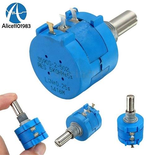 Diy Electronic Diy Kit Pcb 3590S-2-502L 3590S 5K ohm Precision Multiturn Potentiometer 10 Ring Adjustable Resistor