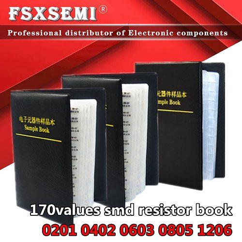 170values x50pcs x25pcs 1% resistors 0201 0402 0603 0805 1206 resistor book full series empty book Sample Book 0R~10M ohm