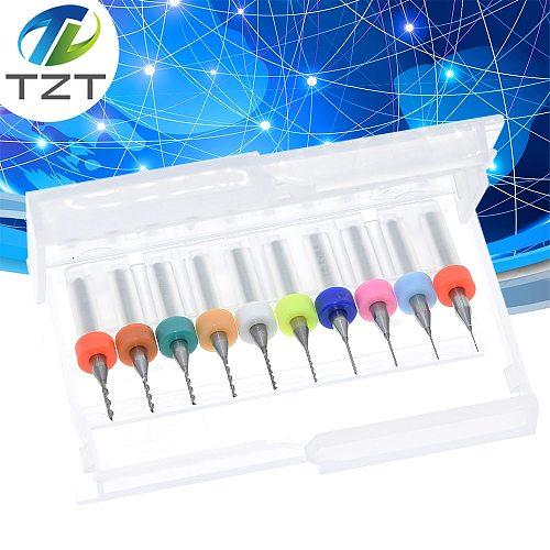10pcs 0.3mm to 1.2mm PCB mini drill Bit tungsten steel carbide for print circuit board cnc drill Bits Machine