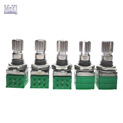 5PCS New RD097-15MM Taiwan High Precision Duplex Potentiometer 10K 20K 50K 100K B10K B20K B50KB100 DIP6