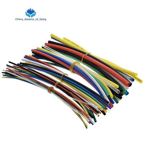 TZT New Electric Unit 70pcs Flame Retardant Durable 7 Color Assorted Colors Ratio 2:1 Polyolefin Heat Shrink Tubing Tube Kits