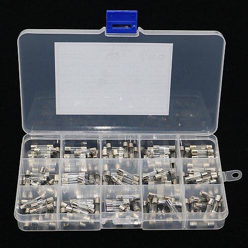 150Pcs/Box 5x20mm Fast-blow Glass Fuse Assorted Kit 0.1A 0.2A 0.5A 1A 2A 3A 4A 5A 6A 8A 10A 15A 20A 25A 30A Fuse Tube Mix Set
