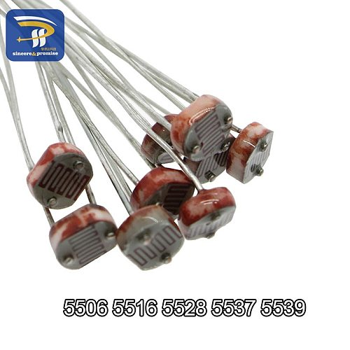 20PCS LDR Photo Light Sensitive Resistor Photoelectric Photoresistor 5528 GL5528 5537 5506 5516 5539 For Arduino DIY