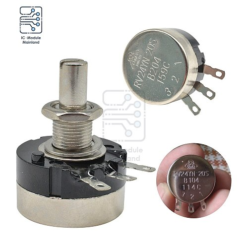 RV24YN20S Carbon Film Rotary Taper Potentiometer B102 B103 B104 B201B202 B204 B502 B203 B503 B504 1K 2K 50K 10K 20K 50K 500K ohm