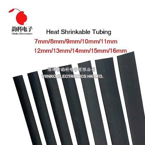 1 Meter/lot 2:1 Black 14mm 15mm 16mm 18mm 20mm 22mm 25mm 28mm 30mm 35mm Heat Shrink Heatshrink Tubing Tube Sleeving Wrap Wire
