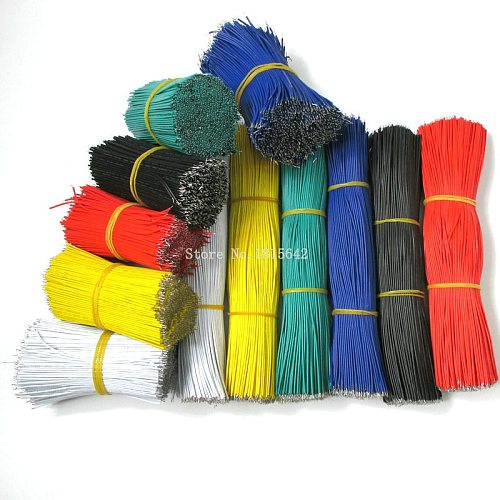 50PCS/LOT Tin-Plated Breadboard Jumper Cable Wire 20cm 200mm 22AWG Flexible Two Ends PVC Wire Electronic PCB 1007-22AWG
