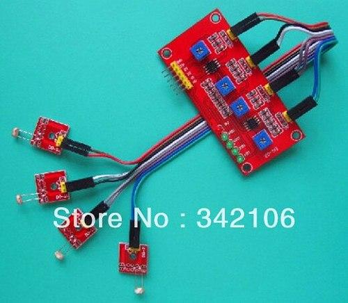 Free Shipping!!!  4-way light-sensitive sensor module detects light sensitive resistor module sensor