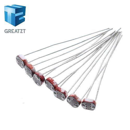 GREATZT 10PCS  LDR Photo Light Sensitive Resistor Photoelectric Photoresistor 5528 GL5528 5537 5506 5516 5539 5549 For Arduino