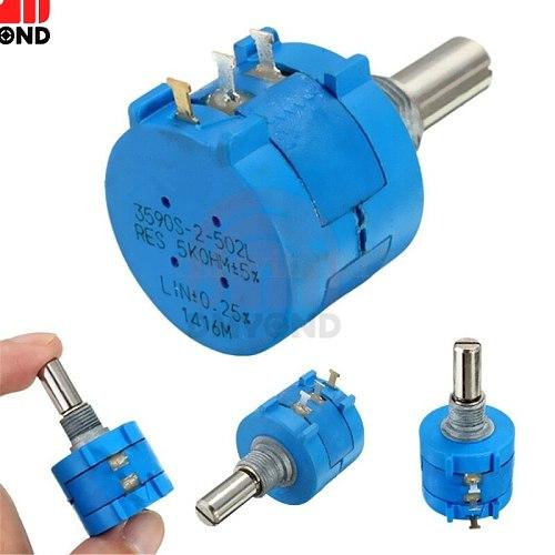 3590S Multiturn Potentiometer 5K ohm Potentiometer Adjustable Resistor 3590 Precision Multiturn Potentiomete 10 Ring Adjustable