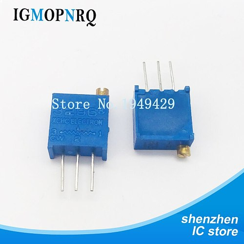 10Pcs/lot 3296W-1-104LF 3296W 104 100K ohm Top regulation Multiturn Trimmer Potentiometer High Precision Variable Resistor
