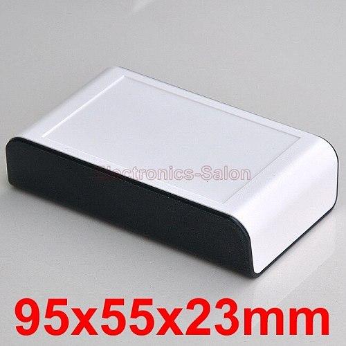 Desktop Instrumentation Project Enclosure Box Case, Black-White, 95x55x23mm.