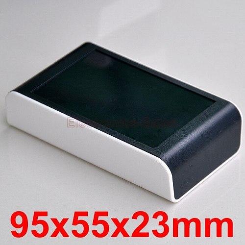Desktop Instrumentation Project Enclosure Box Case, White-Black, 95x55x23mm.