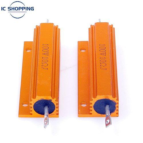 NEW Aluminum Power Metal Shell Case Wirewound Resistor 50W 100W 0.01R ~ 100K 1 3 4 6 8 10 20 200 500 1K 10K Ohm RX24 Resistance