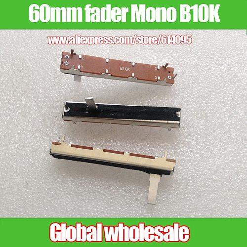 1pcs Amplifier Mixer Length 6cm 60mm Single Direct Slide Potentiometer Fader B10K / Mono 3 Foot 10KB fader