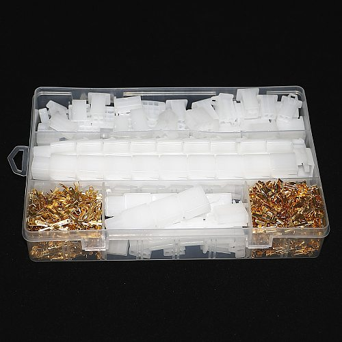 580pcs 50 Sets of Auto and Motorcycle 2.8mm 2 3 4 6 9 Pin Terminal Block Connector
