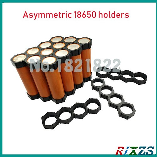 2pcs/a lot  18650  4p 5p asymmetric Cylindrical Battery Holder 18650  Cell Holder Safety Anti Vibration Plastic holder