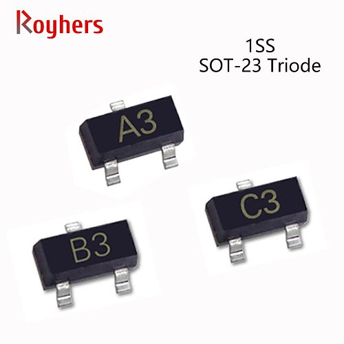 50Pcs SMD Switching Triode Transistor 1SS181 A3 1SS184 B3 1SS226 C3 85V 300mA Electronic Components IC Chips SOT-23
