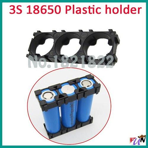 2PCS/alot 3S 18650 Battery Holder Bracket Cylindrical Battery Holder 18650  Holder Safety Anti Vibration Plastic Case Box