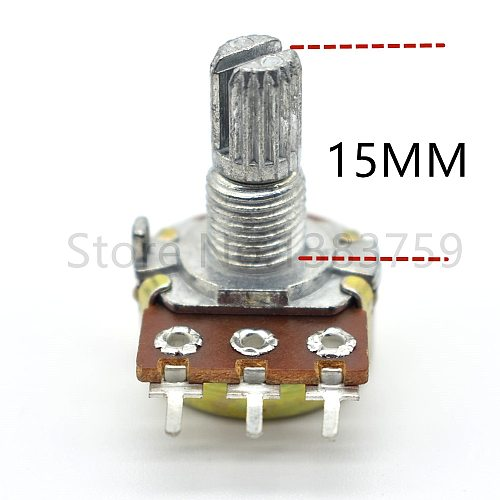 5 pieces W.L sound quality volume potentiometer 16 type A10K single unit potentiometer handle length 15MM flower axis