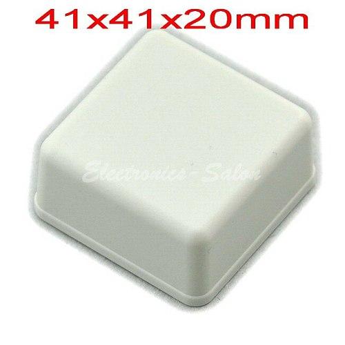 Small Desk-top Plastic Enclosure Box Case,White, 41x41x20mm, HIGH QUALITY.