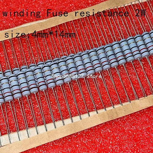 50PCS  1W 5% wire wound resistor Fuse winding resistance 0.1R 0.15R 0.33R 1R 2R 2.2R 3R 4.7R 5.1R 6.8R 10R 20R 22R 33R  47R 100R