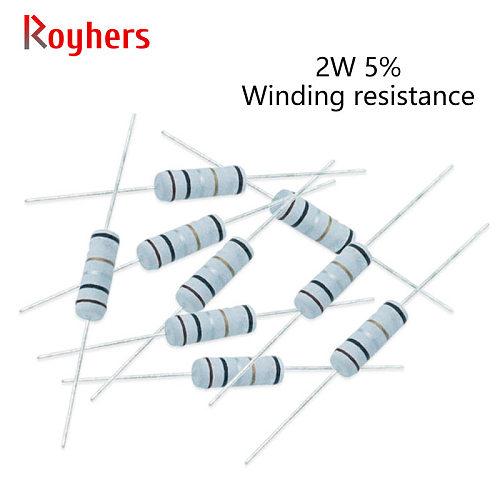 2w Fuse Winding Resistance Accuracy 5% 0.05R/0.1R/0.22R/0.47R/1R/4.7R/5.1R/10R/47R/100R Ohm/68R 20Pcs