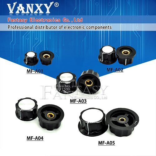 5Pcs MF-A01 MF-A02 MF-A03 MF-A04 MF-A05 Potentiometer Knob WH118/WX050 Rotary Switch Electronic 6mm
