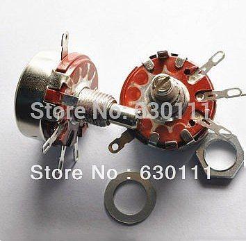 WTH118-1A 2W 1K 2.2K 4.7K 10K 22K 47K 100K 150K 220K 330K 470K ohm 1M Rotary Taper Potentiometer